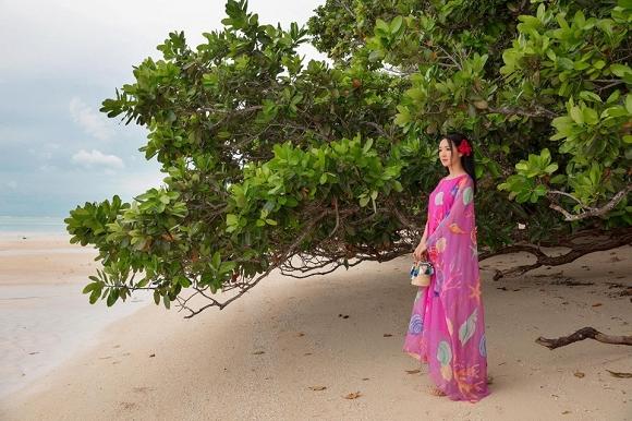Hoa hậu Đền Hùng Giáng My lại thả dáng gợi cảm trên biển-5