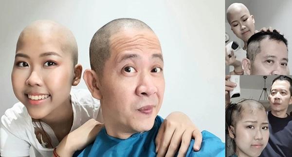 Đạo diễn Những ngọn nến trong đêm cạo đầu, hiến tuỷ cho con gái ung thư-1