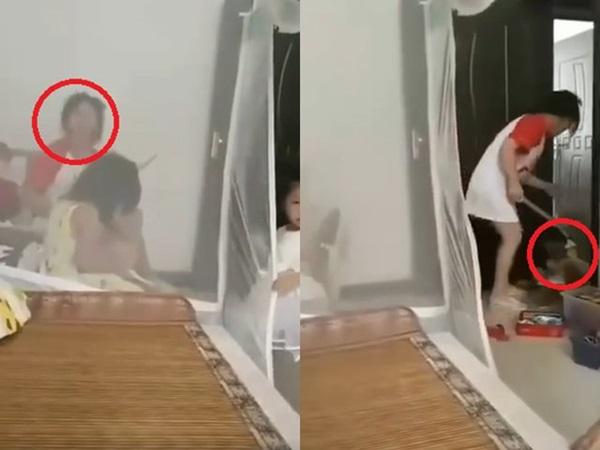 Phẫn nộ người mẹ dùng gậy đánh con như động vật, bố thản nhiên ngồi nói: Đánh nữa đi-1