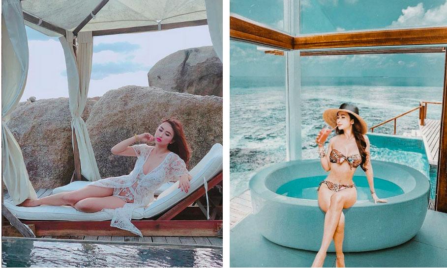 Nhìn loạt ảnh du lịch trước khi biết photoshop của vợ 2 Minh Nhựa, ai cũng phải nể phục đẳng cấp chỉnh ảnh của Mina Phạm-5