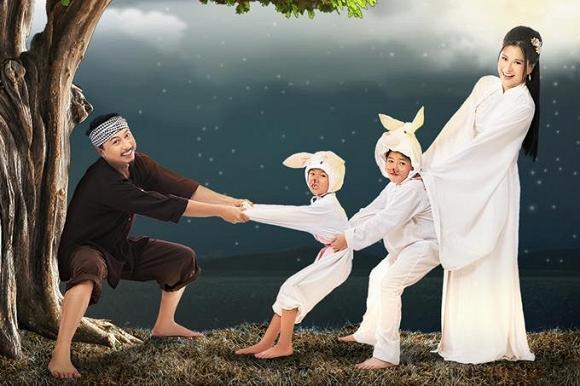 Bộ ảnh đón Tết Trung thu đẹp như cổ tích của gia đình Lâm Vĩ Dạ-3