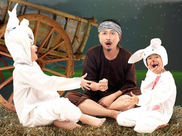 Bộ ảnh đón Tết Trung thu đẹp như cổ tích của gia đình Lâm Vĩ Dạ-4