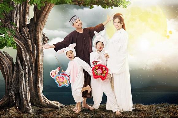 Bộ ảnh đón Tết Trung thu đẹp như cổ tích của gia đình Lâm Vĩ Dạ-5