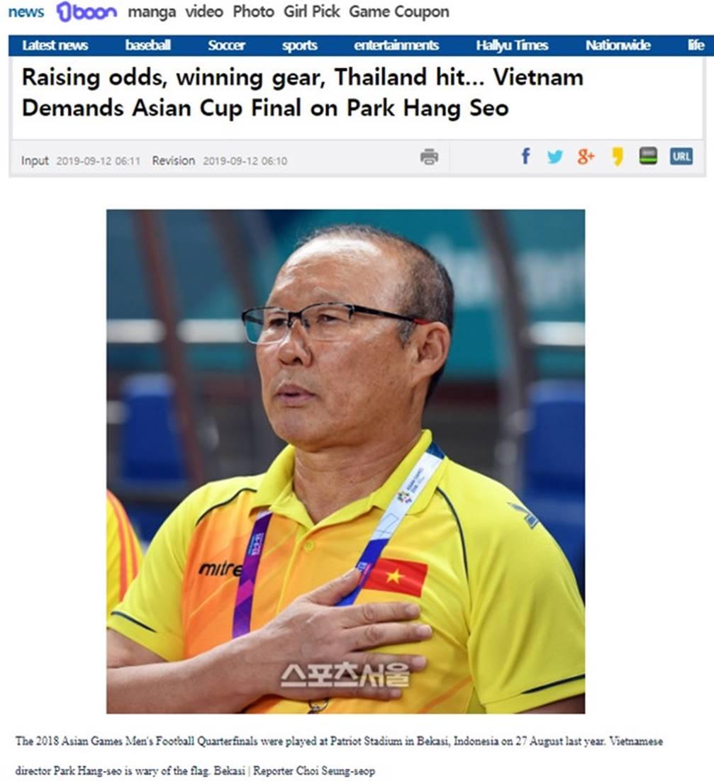 Hợp đồng mới yêu cầu HLV Park đưa Việt Nam tới chung kết Asian Cup?-1