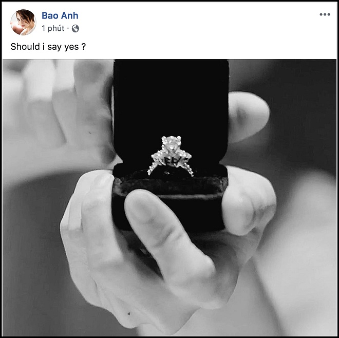 """Xôn xao Bảo Anh bất ngờ khoe nhẫn kim cương, còn nghiêm túc hỏi fan Có nên đồng ý?""""-1"""