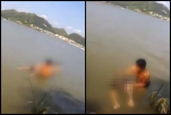 Chàng trai nhảy hồ tự tử vì bạn gái đòi chia tay, cái kết không ngờ khiến dân mạng cười nắc nẻ-1