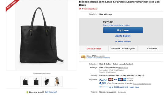 Meghan Markle vừa tung ra bộ sưu tập thời trang mới, người tiêu dùng đã nhận cảnh báo khi mua sản phẩm của nàng dâu hoàng gia-2