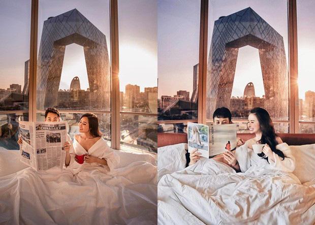 """Đại gia Minh Nhựa và vợ hai đi du lịch suốt ngày, hình chụp cũng chẳng xấu, vậy mà cứ phải mượn"""" ảnh để photoshop làm gì?-4"""