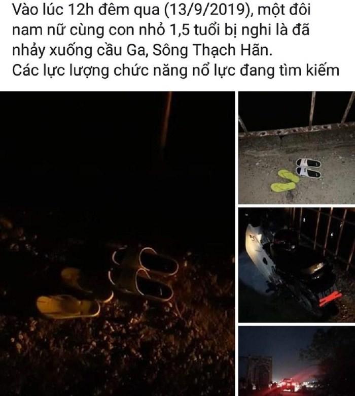 Xôn xao thông tin đôi vợ chồng cùng đứa con nhỏ nhảy sông tự tử trong đêm Trung Thu-1