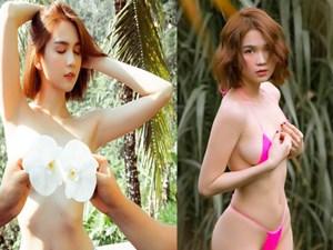 Hết dùng hoa làm nội y, Ngọc Trinh lại khiến dân tình dậy sóng vì diện bikini siêu nhỏ