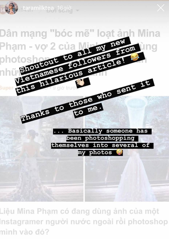 Mina Phạm - vợ 2 đại gia Minh Nhựa đăng story xoáy thẳng vào phốt photoshop ảnh, hỏi ngược: Ảnh ăn cắp đây ư?-1