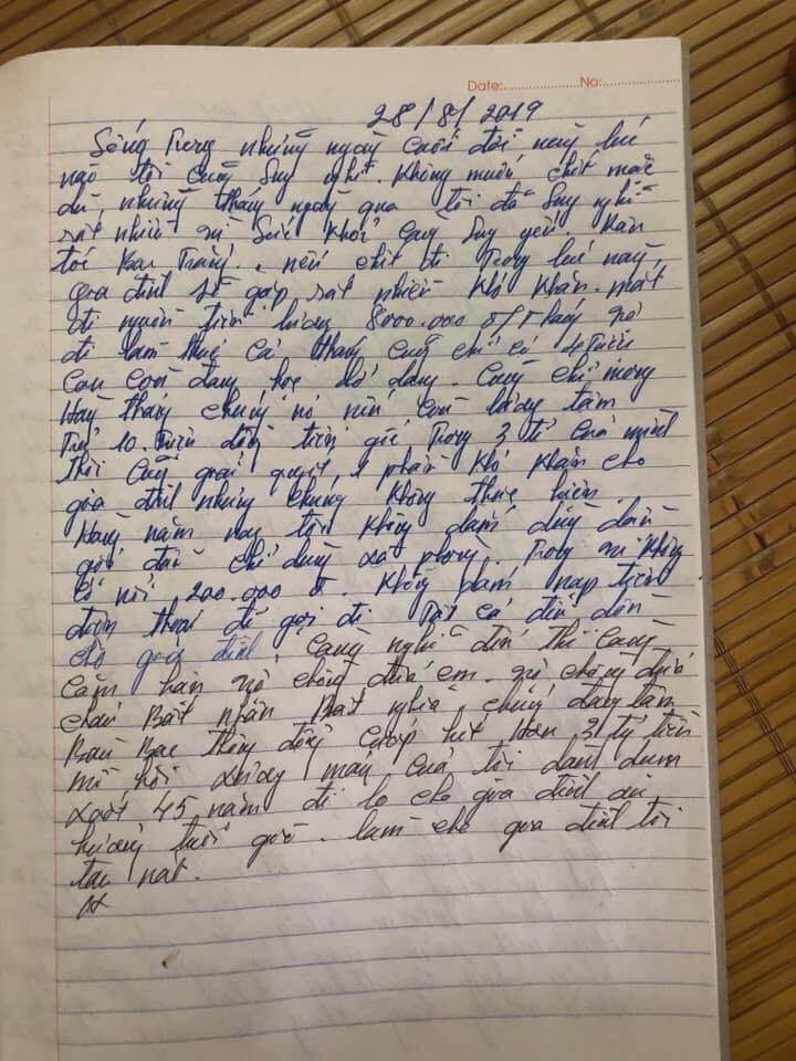 Xôn xao lá thư của nghi phạm để lại trước khi sát hại cả nhà em gái: Càng nghĩ càng căm hận vợ chồng đứa cháu, làm cho gia đình tôi tan nát-2