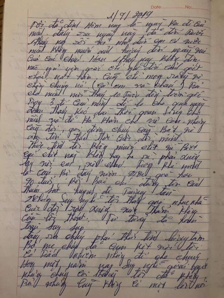 Xôn xao lá thư của nghi phạm để lại trước khi sát hại cả nhà em gái: Càng nghĩ càng căm hận vợ chồng đứa cháu, làm cho gia đình tôi tan nát-3