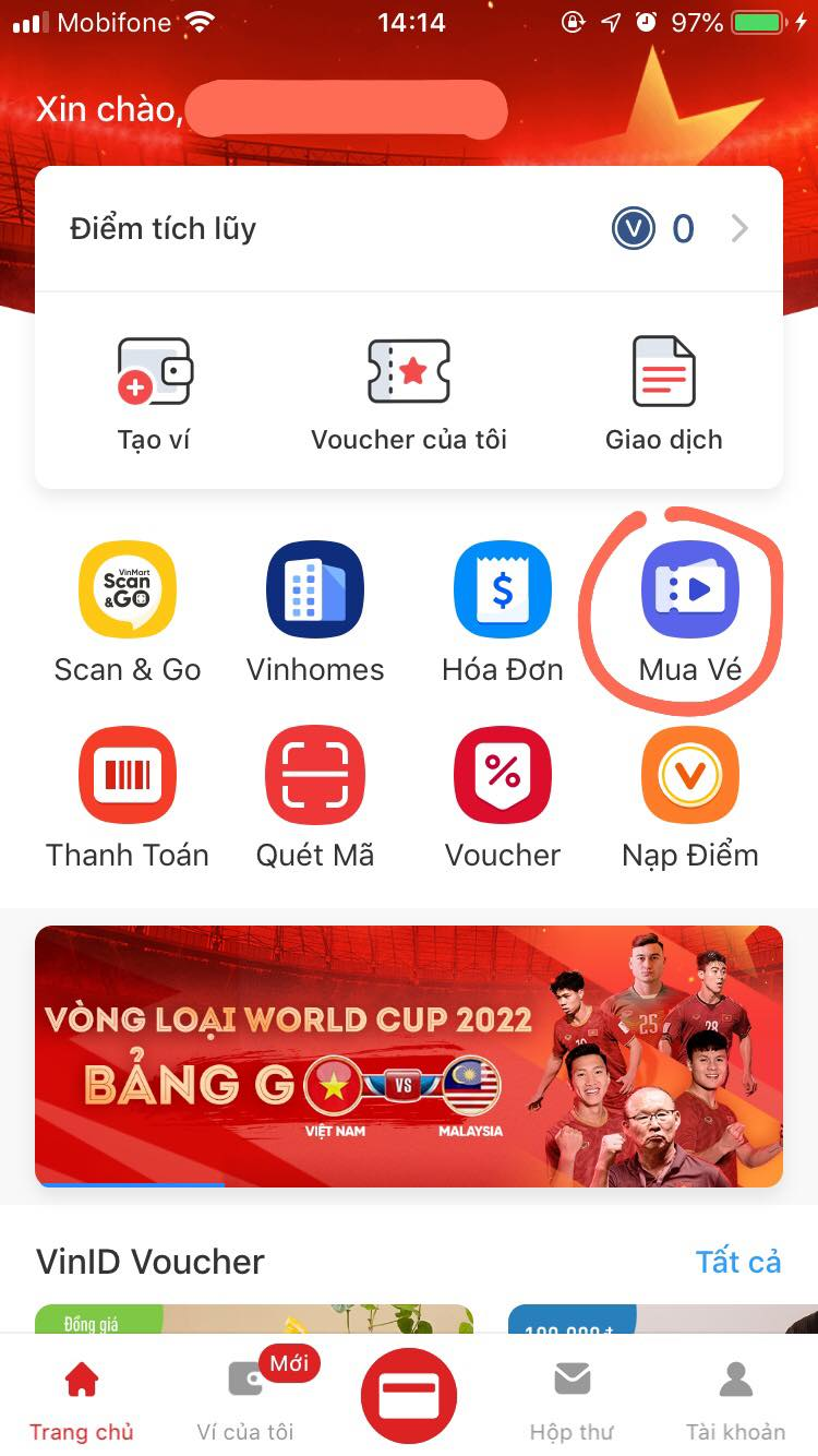 Hướng dẫn chi tiết cách mua vé online trận ĐT Việt Nam vs Malaysia từ 10h sáng mai-1