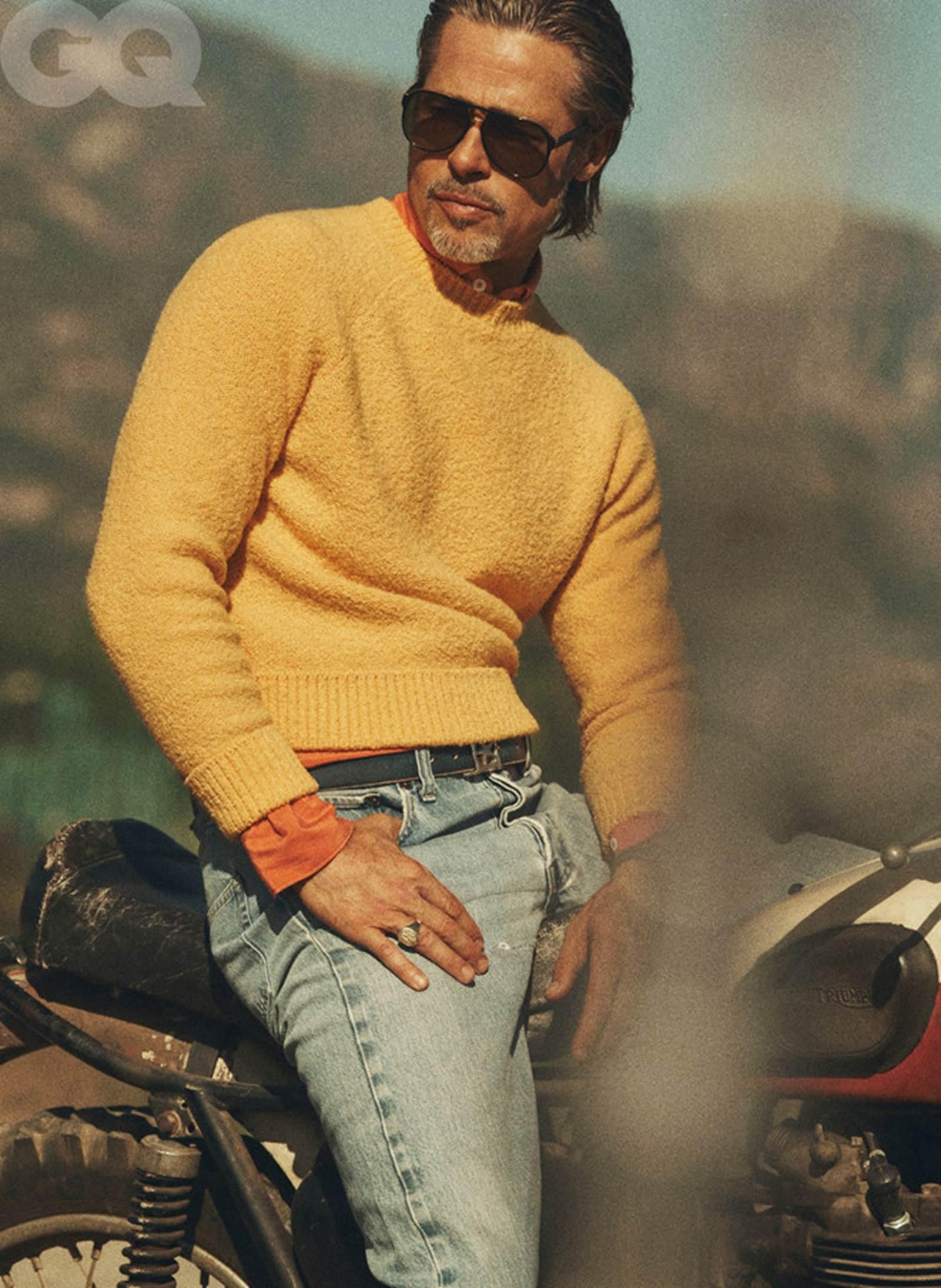 Vẻ phong trần của tài tử Brad Pitt ở tuổi 56-7
