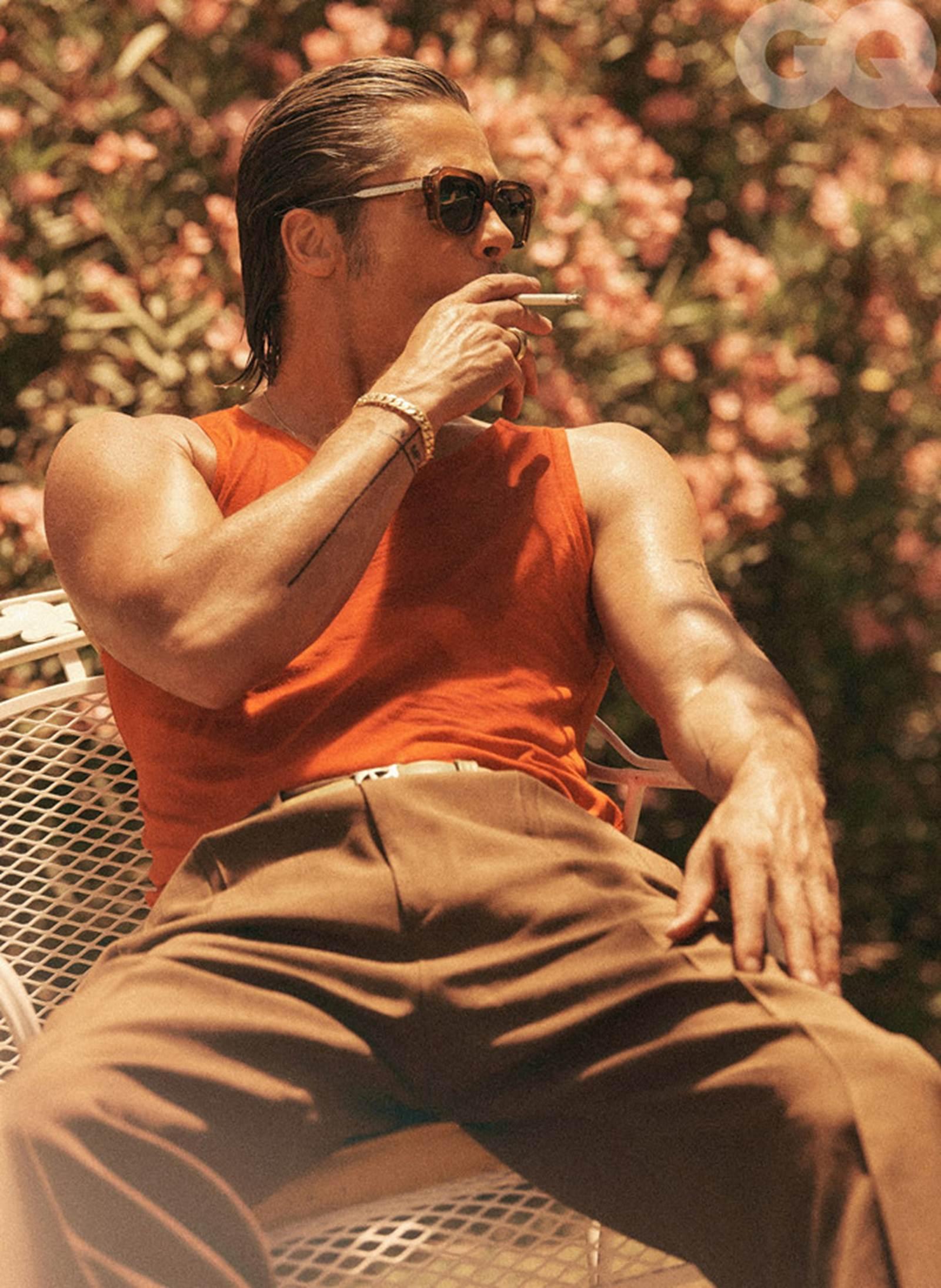 Vẻ phong trần của tài tử Brad Pitt ở tuổi 56-8