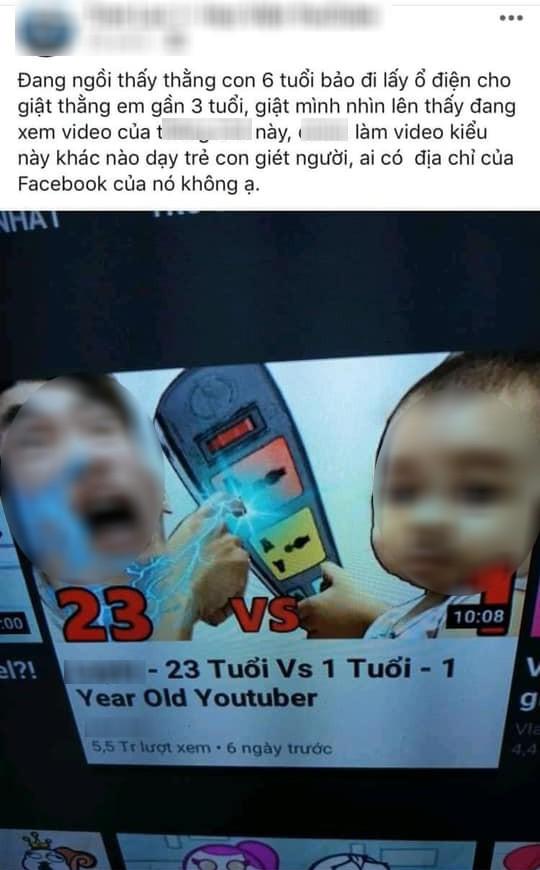 Xôn xao thông tin anh trai 6 tuổi đòi lấy ổ điện cho giật em bé 3 tuổi, nguyên nhân vì học theo kênh YouTube nổi tiếng?-1
