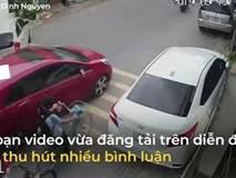 Nữ tài xế quên kéo phanh tay, ôtô tự do trôi ra giữa đường