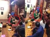 Chính quyền thông tin về đoạn clip bị tát trong đền, người phụ nữ tát lại cô đồng lia lịa