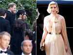 Meghan Markle vội vã quay về Anh, trở thành khách mời kém duyên nhất khi mặc đồ đen đi đám cưới, chiếm hết spotlight của cô dâu chú rể-9