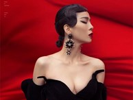 'Nghẹt thở' vì Lệ Quyên mặc váy o ép vòng 1 đầy đến Nam Thư cũng phải 'Xịt máu mũi'