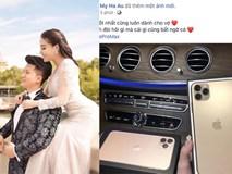 Hết tăng 10kg, dâu hụt nghệ sỹ Hương Dung lại khoe được chồng tặng Iphone 11 Pro Max mới
