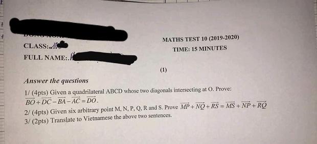 Khi trường học áp dụng kiểm tra Toán bằng Tiếng Anh, học sinh kêu gào: Đề 15 phút nhưng mất 20 phút dịch!-1