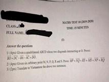 Khi trường học áp dụng kiểm tra Toán bằng Tiếng Anh, học sinh kêu gào: Đề 15 phút nhưng mất 20 phút dịch!