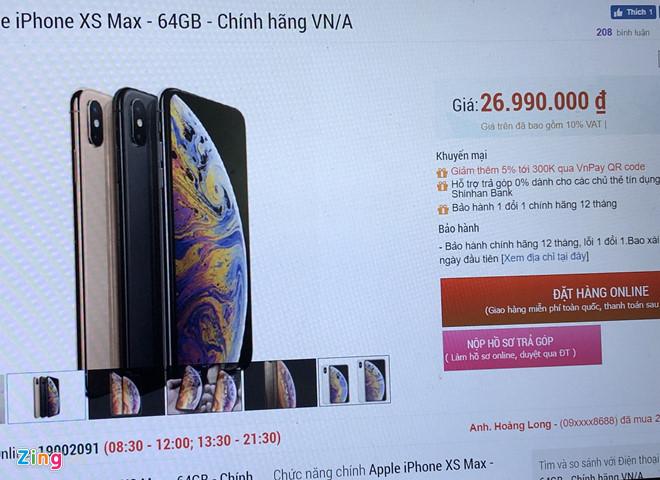 iPhone đời cũ giảm giá sau khi iPhone 11 về VN-1