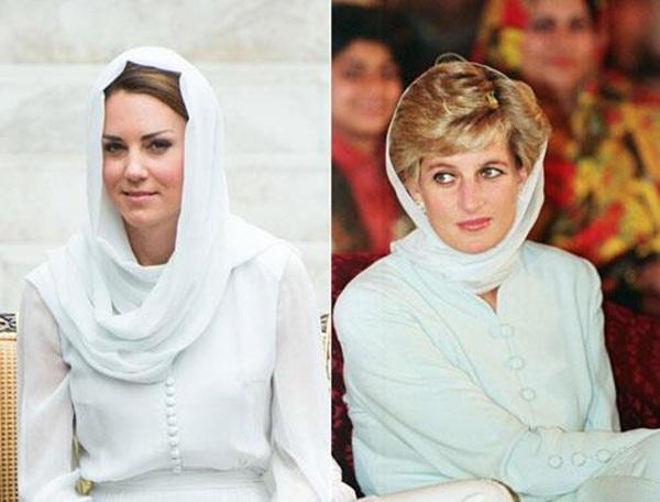 Meghan Markle bị chê kém tinh tế, thua xa chị dâu Kate khi lần đầu tiên đội khăn trùm đầu theo kiểu Hồi giáo-3