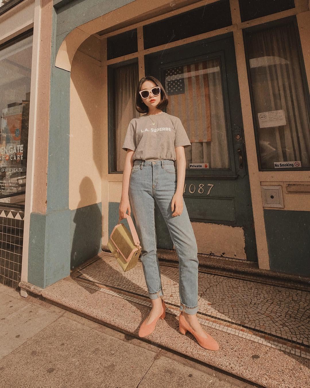 Đã tìm ra kiểu quần jeans vô địch về khoản hack tuổi, nhưng vẫn thanh lịch chẳng kém quần jeans trắng-2