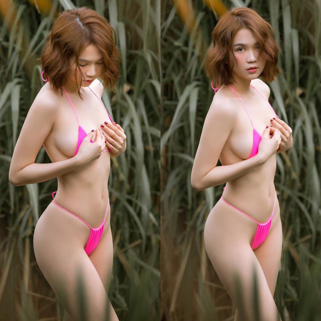 Ngọc Trinh chứng minh vòng eo vô địch showbiz Việt khi ăn uống chán chê nhưng số đo vẫn chưa chạm 56cm-1