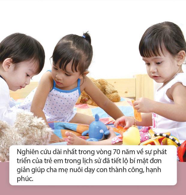 Kết quả nghiên cứu kéo dài 70 năm chỉ ra 7 bí quyết cực đơn giản để nuôi dạy con thành người thành công-1