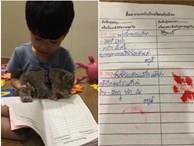Không dám đưa sổ liên lạc cho bố mẹ, cậu bé tìm 'phụ huynh rởm' ký thay nhưng danh tính khiến ai nấy cười đau bụng
