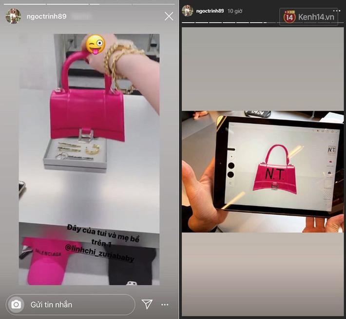 Không hổ danh thánh nữ hàng hiệu, Ngọc Trinh chi hơn 70 triệu đồng để mua túi giống Lisa (Black Pink) và Địch Lệ Nhiệt Ba-3