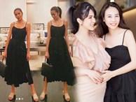 Có chồng là đại gia, Hà Tăng và Đàm Thu Trang vẫn diện mẫu váy đơn giản