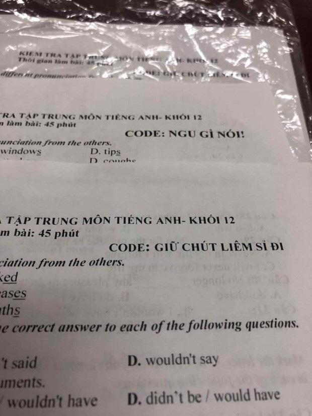 """Đặt mã đề toàn hỏi chấm với chấm than, giáo viên khiến học sinh khóc thét"""" không biết tìm đồng bọn cùng đề kiểu gì-2"""