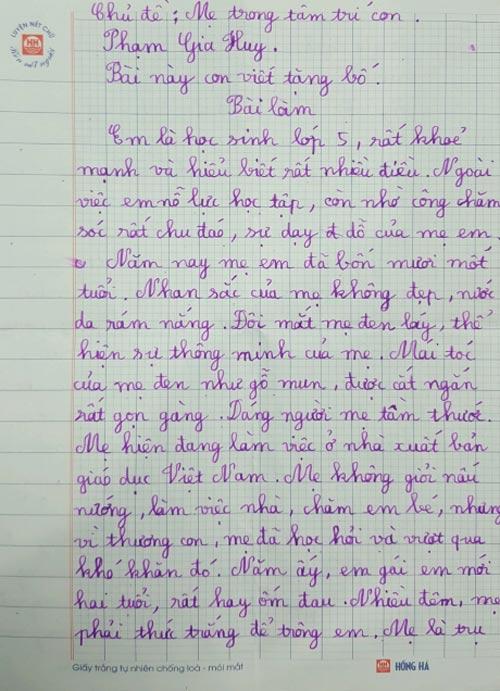 4 bài văn tả mẹ gây bão: Thầy giáo chấm 10 điểm, bật khóc ngay khi đọc dòng đầu tiên-3