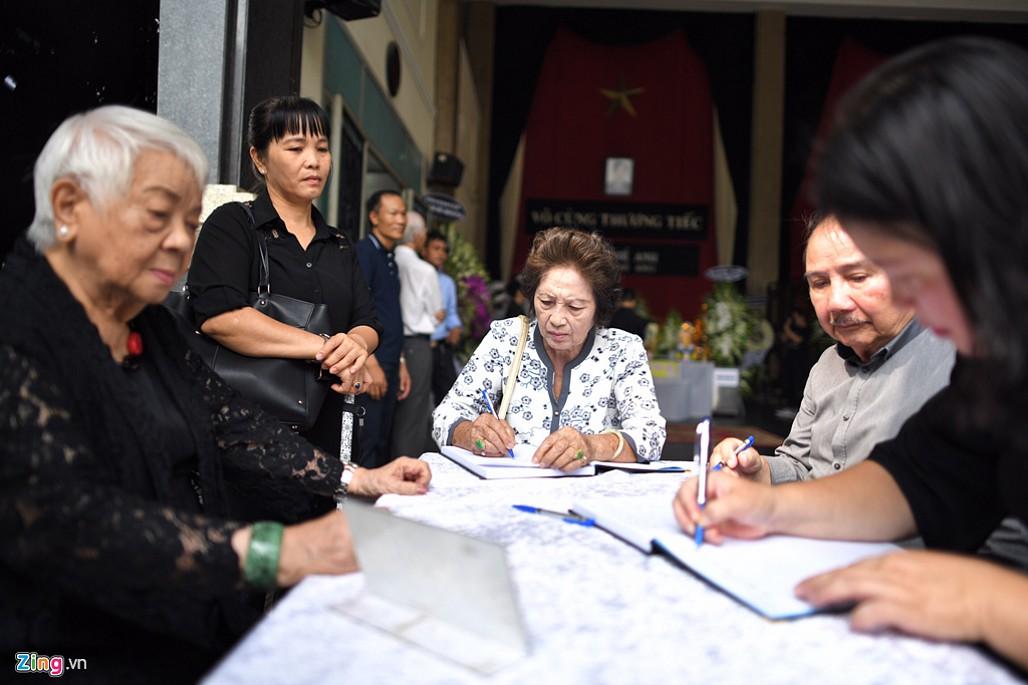 NSND Trà Giang, Trung Anh nghẹn ngào đến viếng nghệ sĩ Thế Anh-2