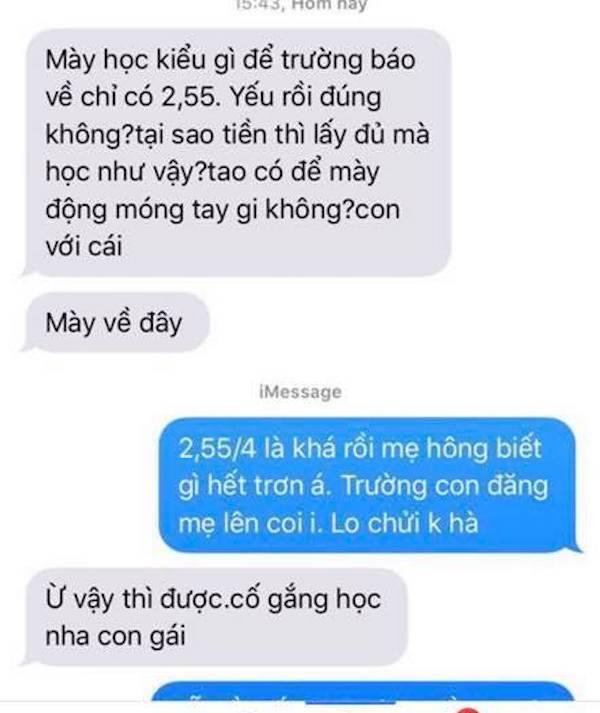 Trường gửi tin nhắn báo điểm cho phụ huynh, sinh viên náo loạn-1