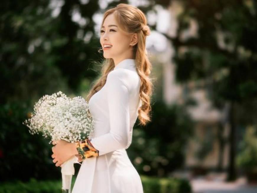 Á hậu Phương Nga đẹp lụi tim khi diện áo dài trắng chụp ảnh kỷ yếu-7