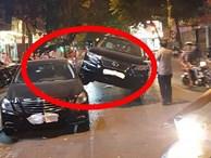 """Xe Lexus 'gác"""" lên thân Mercedes - hình ảnh vụ tai nạn gây xôn xao trên phố Hà Nội"""