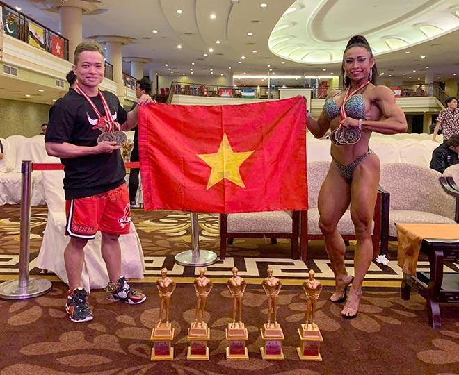 Các lực sỹ Việt Nam vượt Thái Lan, lập kỷ lục HCV giải châu Á-1