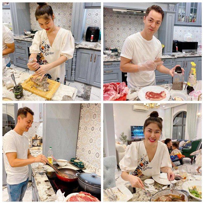 Cả vợ cả chồng nhà Đăng Khôi mải mê nấu ăn nhưng nhân vật cuối cùng cũng gây chú ý-1