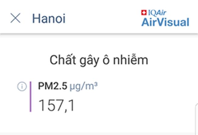 Sau 1 ngày mưa lớn, ô nhiễm ở Hà Nội lại ở mức báo động-3