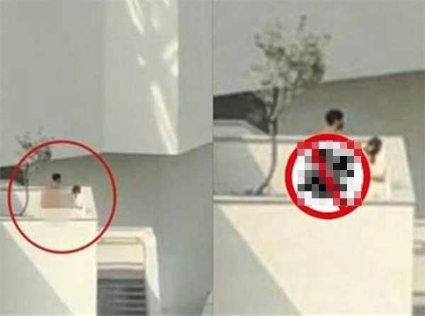 Cặp đôi đeo mặt nạ làm tình trên sân thượng bảo tàng khiến nhiều người đỏ mặt-1
