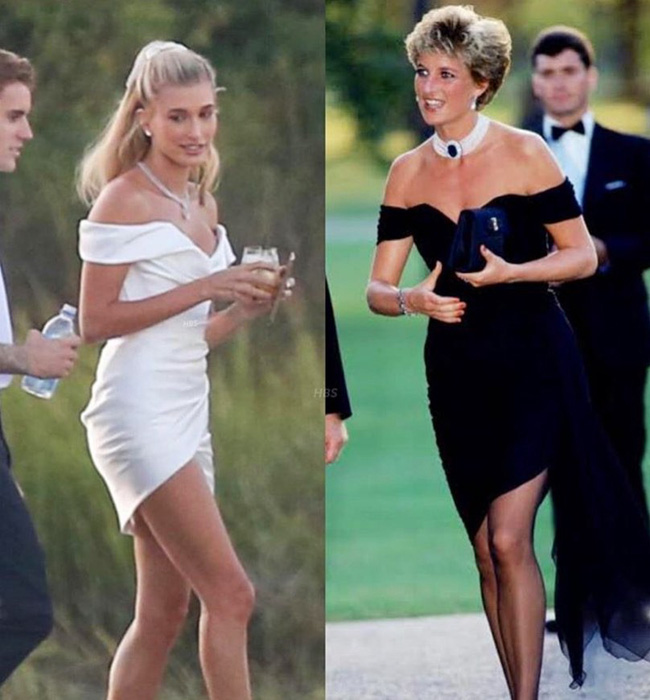 """Chiếc váy trả thù"""" của công nương Diana được đồn đoán chính là nguồn cảm hứng cho váy cưới tuyệt đẹp của Hailey Bieber-5"""