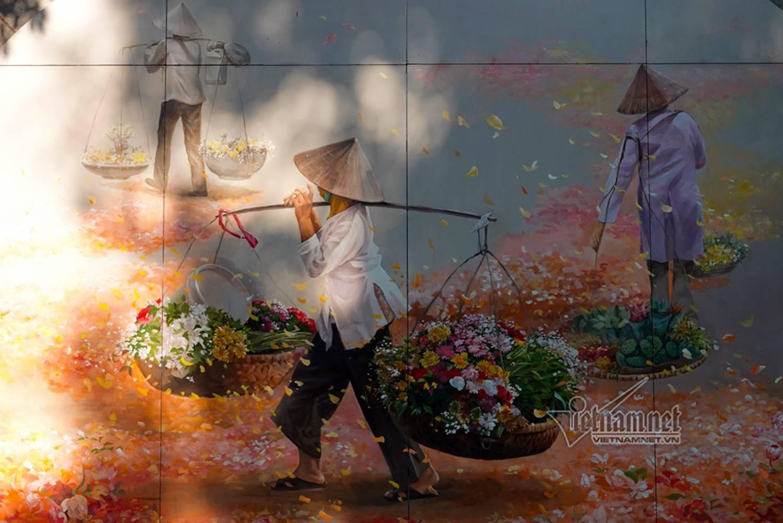 Hà Nội xưa đẹp lạ qua tranh bích họa trên phố-5