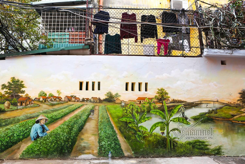 Hà Nội xưa đẹp lạ qua tranh bích họa trên phố-15