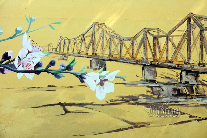 Hà Nội xưa đẹp lạ qua tranh bích họa trên phố-13